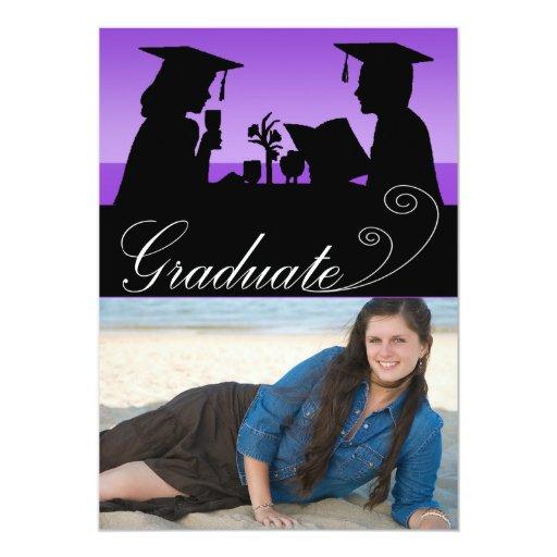 Invitación de la fiesta de graduación de la foto