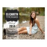 Invitación de la fiesta de graduación de la foto d tarjetas postales
