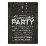 Invitación de la fiesta de graduación de la mirada invitación 12,7 x 17,8 cm