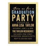 Invitación de la fiesta de graduación del brillo invitación 12,7 x 17,8 cm