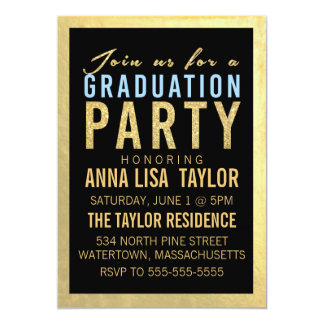 Invitación de la fiesta de graduación del brillo