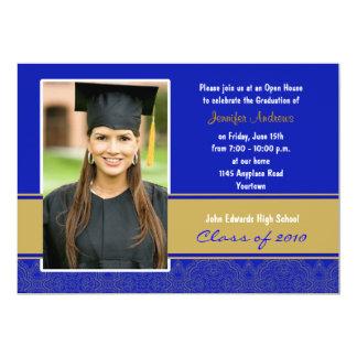 Invitación de la fiesta de graduación del damasco