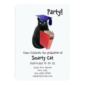 Invitación de la fiesta de graduación del gato