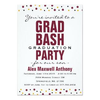Invitación de la fiesta de graduación del golpe