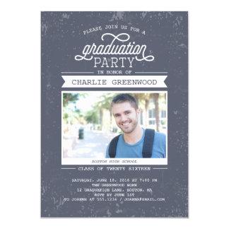 Invitación de la fiesta de graduación del Grunge