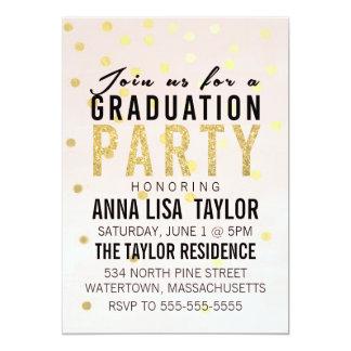 Invitación de la fiesta de graduación del lunar
