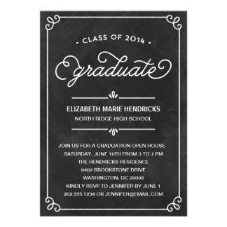 Invitación de la fiesta de graduación del marco de