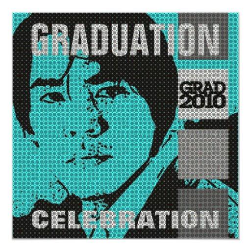 Invitación de la fiesta de graduación del parte invitación 13,3 cm x 13,3cm