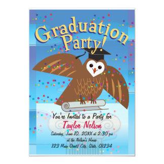 Invitación de la fiesta de graduación (diseño del