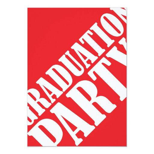 Invitación de la fiesta de graduación - rojo
