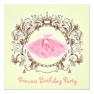 invitación de la fiesta de la princesa cumpleaños