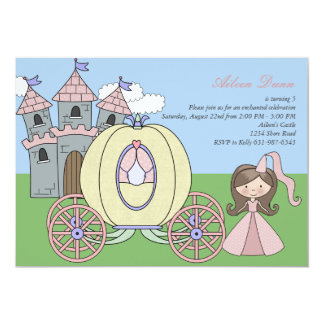 Invitación de la fiesta de la princesa cumpleaños invitación 12,7 x 17,8 cm