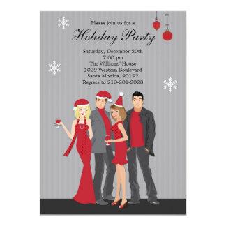 Invitación de la fiesta de Navidad Invitación 12,7 X 17,8 Cm