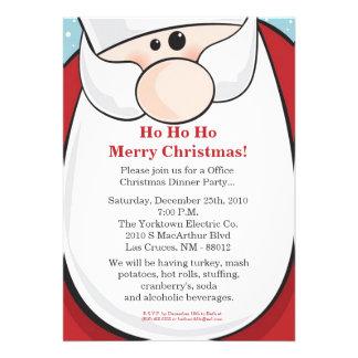 invitación de la fiesta de Navidad de 5x7 Papá Noe