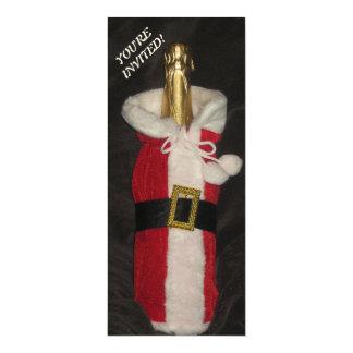Invitación de la fiesta de Navidad de la botella