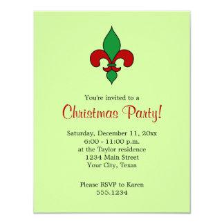 Invitación de la fiesta de Navidad de la flor de