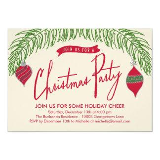 Invitación de la fiesta de Navidad de las ramas