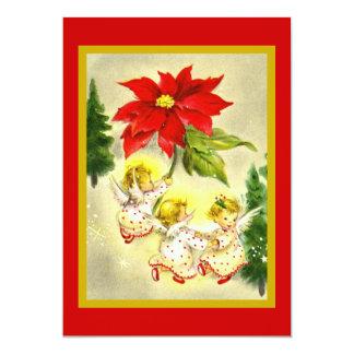 Invitación de la fiesta de Navidad de los ángeles