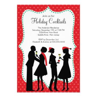 Invitación de la fiesta de Navidad de los cócteles