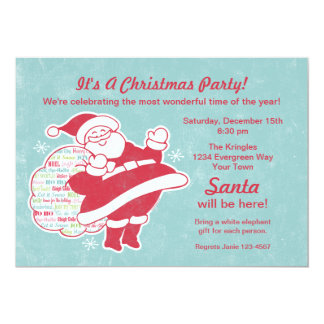 Invitación de la fiesta de Navidad de los saludos