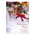 invitación de la fiesta de Navidad de los vidrios
