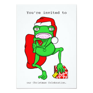 Invitación de la fiesta de Navidad de Santa de la