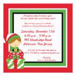 invitación de la fiesta de Navidad de Sr. 5x5 y de