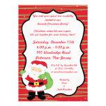 invitación de la fiesta de Navidad de Sr. 5x7 y de