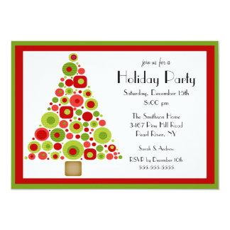 Invitación de la fiesta de Navidad del árbol de
