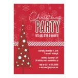 Invitación de la fiesta de Navidad del árbol del Invitación 12,7 X 17,8 Cm