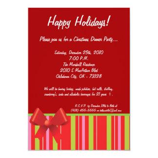 invitación de la fiesta de Navidad del arco del