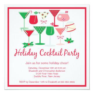 Invitación de la fiesta de Navidad del cóctel del Invitación 13,3 Cm X 13,3cm