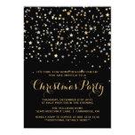 Invitación de la fiesta de Navidad del confeti de