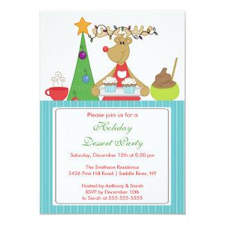 Invitación de la fiesta de Navidad del día de