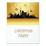 Invitación de la fiesta de Navidad del oro