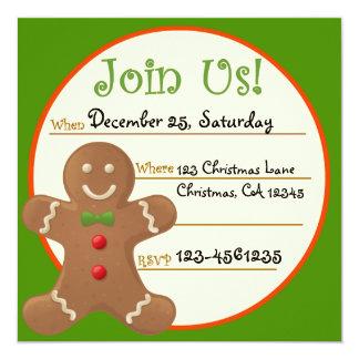 Invitación de la fiesta de Navidad del pan de