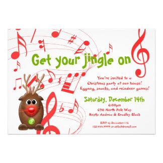 Invitación de la fiesta de Navidad del reno de San