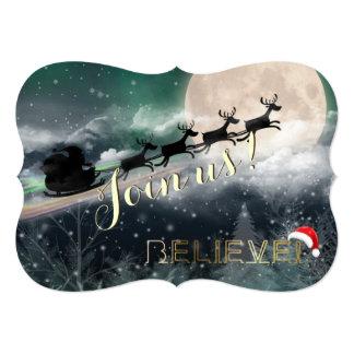 Invitación de la fiesta de Navidad del reno del Invitación 12,7 X 17,8 Cm