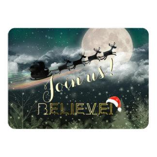 Invitación de la fiesta de Navidad del reno del Invitación 11,4 X 15,8 Cm