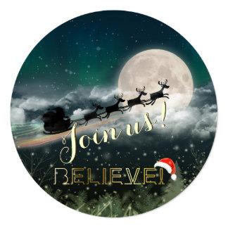 Invitación de la fiesta de Navidad del reno del Invitación 13,3 Cm X 13,3cm