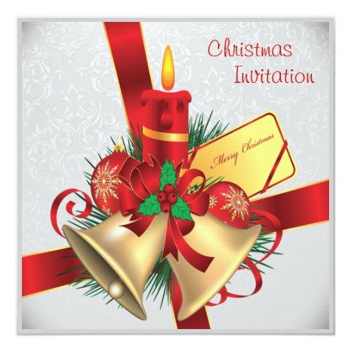 invitación de la fiesta de Navidad del vintage.