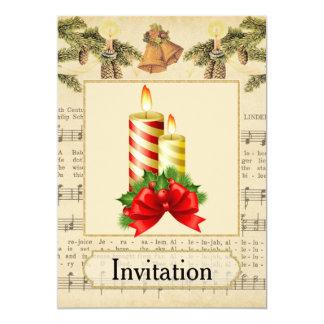 Invitación de la fiesta de Navidad del vintage con