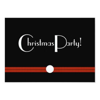 Invitación de la fiesta de Navidad en blanco y