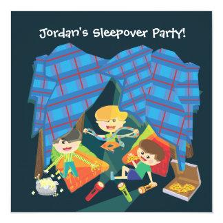 Invitación de la fiesta de pijamas del Sleepover Invitación 13,3 Cm X 13,3cm