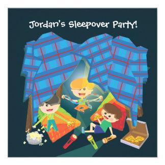 Invitación de la fiesta de pijamas del Sleepover d