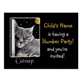 ¡Invitación de la fiesta de pijamas! Tarjetas Postales