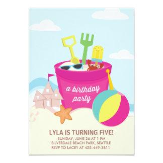 Invitación de la fiesta del cumpleaños de la playa