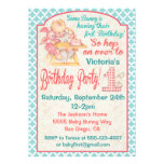Invitación de la fiesta del cumpleaños del bebé de