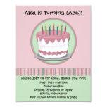 Invitación de la fiesta del cumpleaños del chica invitación 10,8 x 13,9 cm