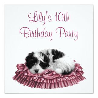 Invitación de la fiesta del cumpleaños del chica invitación 13,3 cm x 13,3cm